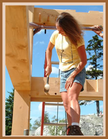Vermont Timber Frame Home Owners